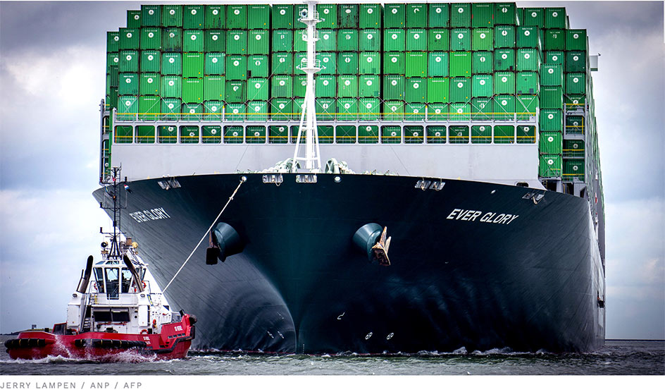 konténer szállító hajó